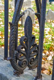 Fence Acanthus Detail, Old Pine Street Church Burial Ground, Phiadelphia