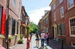 Vibrant Alley Scale, Elfreth's Alley, Philadelphia