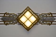 Overhead Deco Light Fixture, Library of Congress, John Adams Building