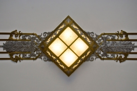 Overhead Deco Light Fixture, Library of Congress, John Adams Building