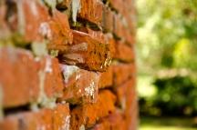 Smokehouse masonry failure, Compton Bassett