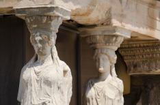 Caryatids, Erechtheion, Acropolis, Athens,